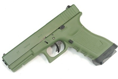 Pistola Airsoft WE Glock G17 Gen 3 GBB Metal e Polimero OD/OD - Calibre 6 mm #