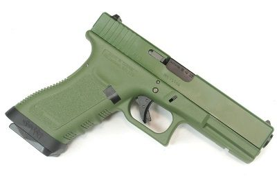 Pistola Airsoft WE Glock G17 Gen 3 GBB Metal e Polimero OD/OD - Calibre 6 mm #  - MAB AIRSOFT