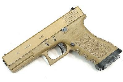 Pistola Airsoft WE Glock G17 Gen 3 GBB Metal e Polimero TAN/TAN - Calibre 6 mm #
