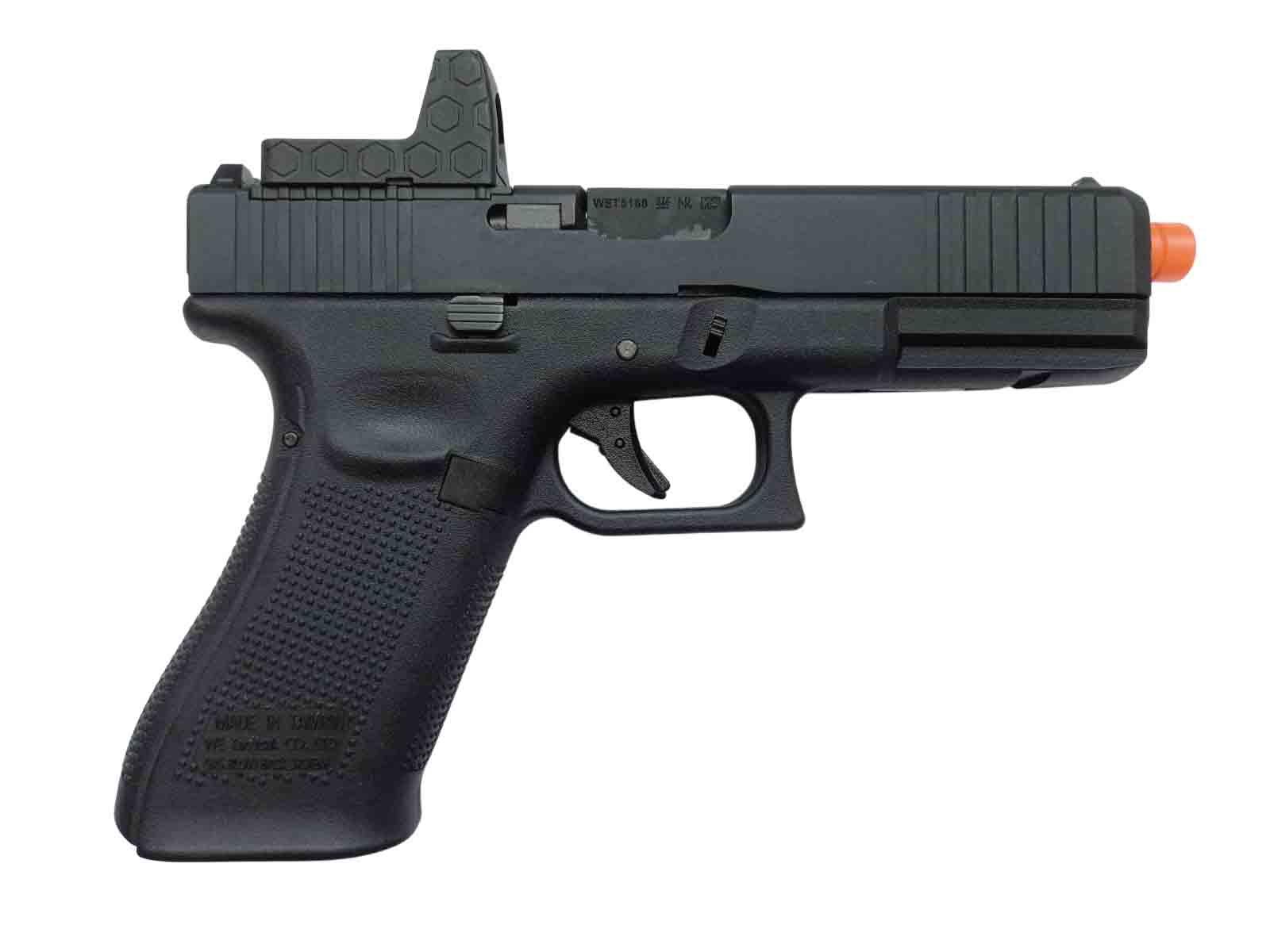 Pistola Airsoft WE Glock G17 Gen 5 MOS GBB Metal e Polímero Black - Calibre 6 mm