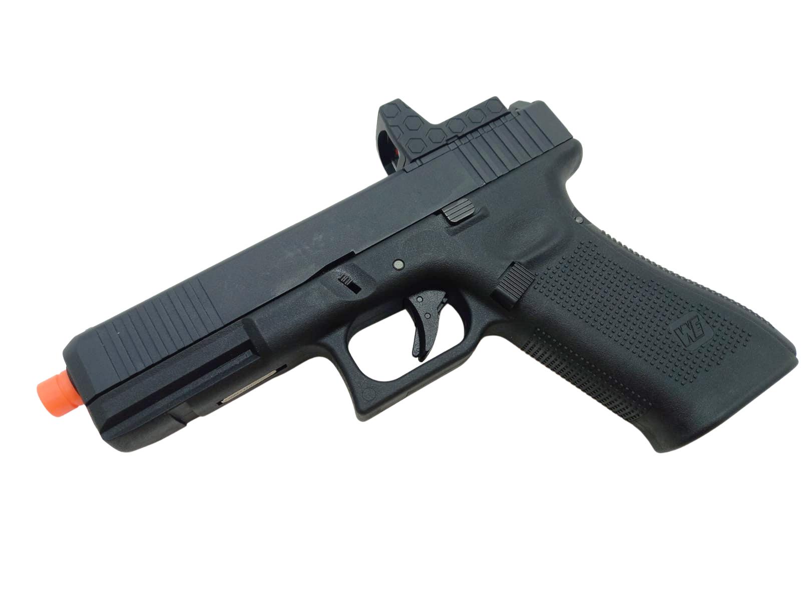 Pistola Airsoft WE Glock G17 Gen 5 MOS GBB Metal e Polímero Black - Calibre 6 mm  - MAB AIRSOFT