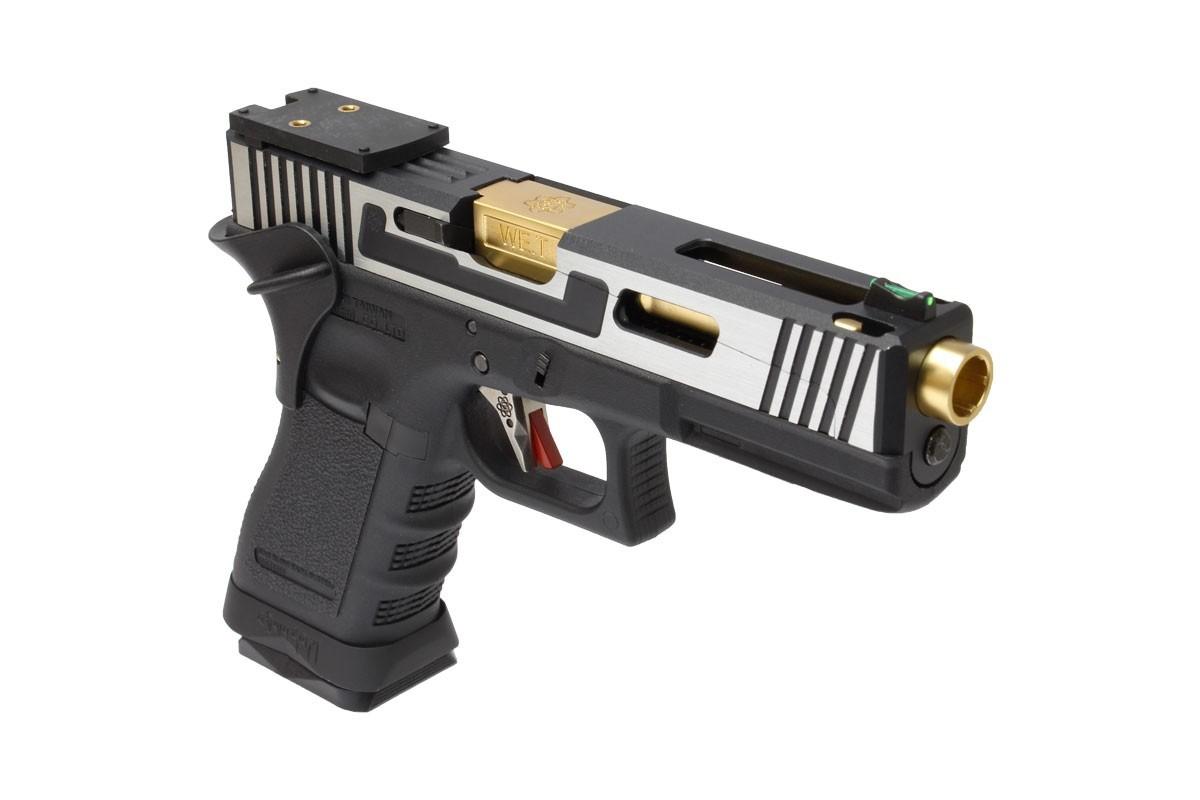 Pistola Airsoft WE Glock G17 Hi - Speed 2T (CNC Aluminium Slide) - Calibre 6 mm #  - MAB AIRSOFT