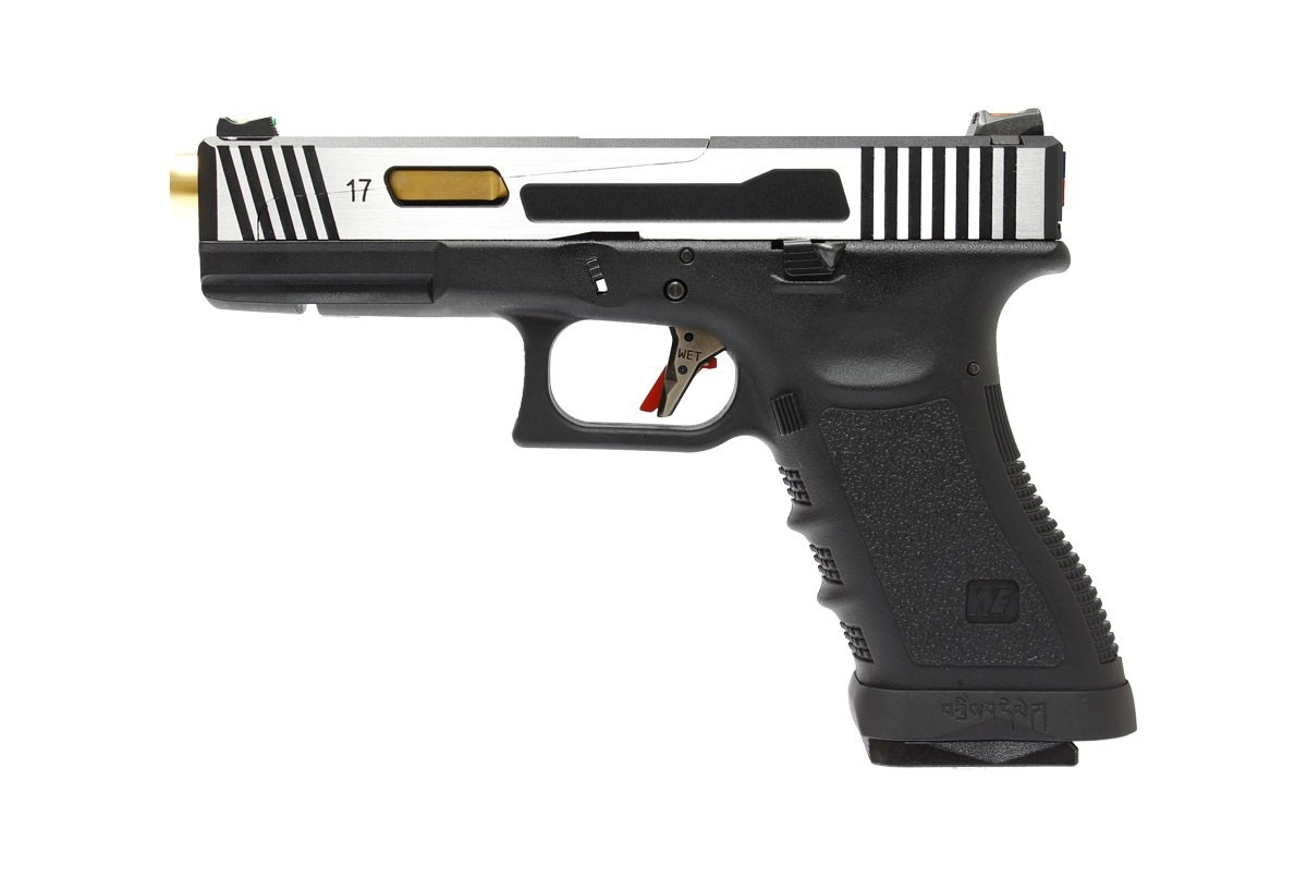 Pistola Airsoft WE Glock G17 Hi - Speed 2T (CNC Aluminium Slide) - Calibre 6 mm #