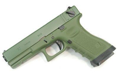 Pistola Airsoft WE Glock G18 Gen 3 GBB Metal e Polimero OD/OD - Calibre 6 mm #