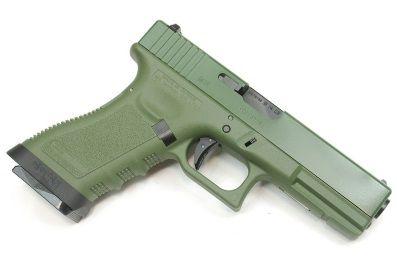 Pistola Airsoft WE Glock G18 Gen 3 GBB Metal e Polimero OD/OD - Calibre 6 mm #  - MAB AIRSOFT