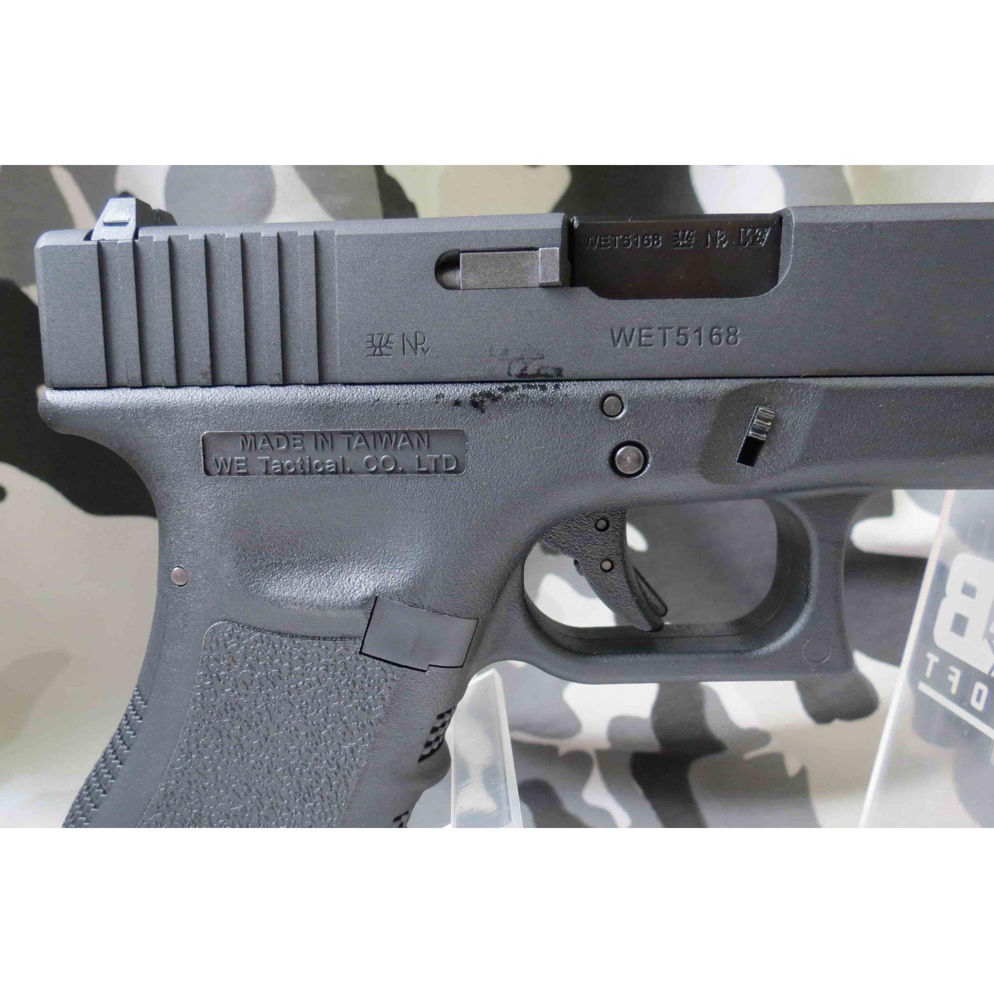 Pistola Airsoft WE Glock G18 Gen 3 GBB Metal e Polimero Preta - Calibre 6 mm  - MAB AIRSOFT