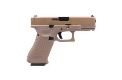 Pistola Airsoft WE Glock G19X Gen 5 GBB Metal e Polimero TAN/TAN - Calibre 6 mm #  - MAB AIRSOFT