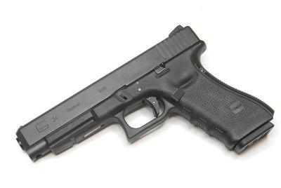 Pistola Airsoft WE Glock G34 Gen 4 GBB Metal e Polimero Preta - Calibre 6 mm  - MAB AIRSOFT