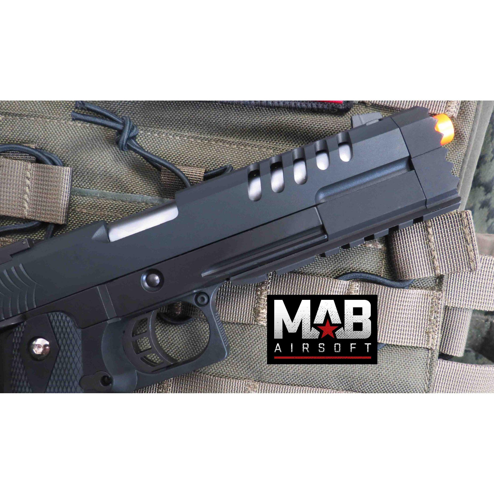 Pistola Airsoft WE Hi-Capa 5.2 K GBB Full Metal Preta - Calibre 6 mm  - MAB AIRSOFT