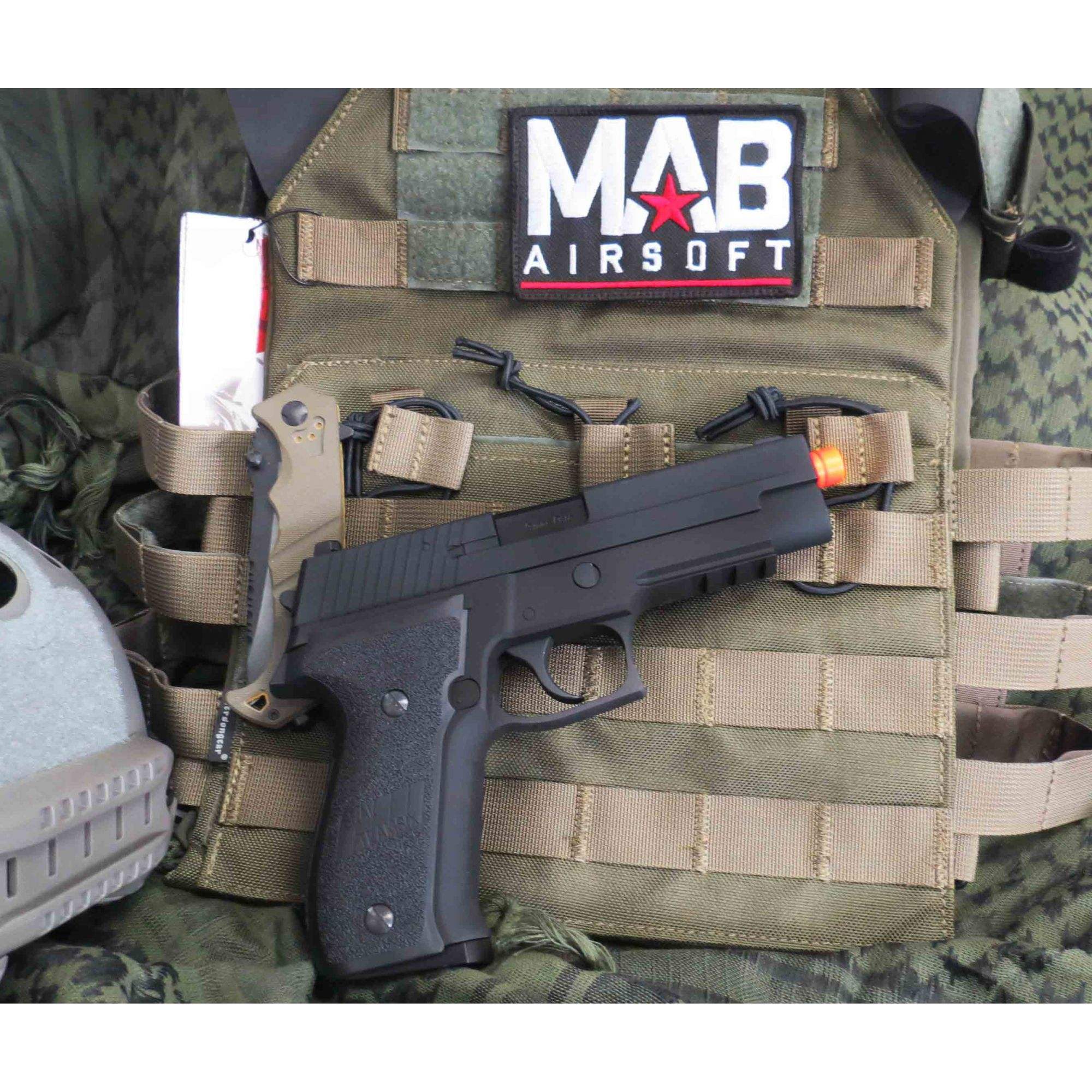 Pistola Airsoft WE Sig Sauer P226 Tactical GBB Full Metal Preta - Calibre 6 mm