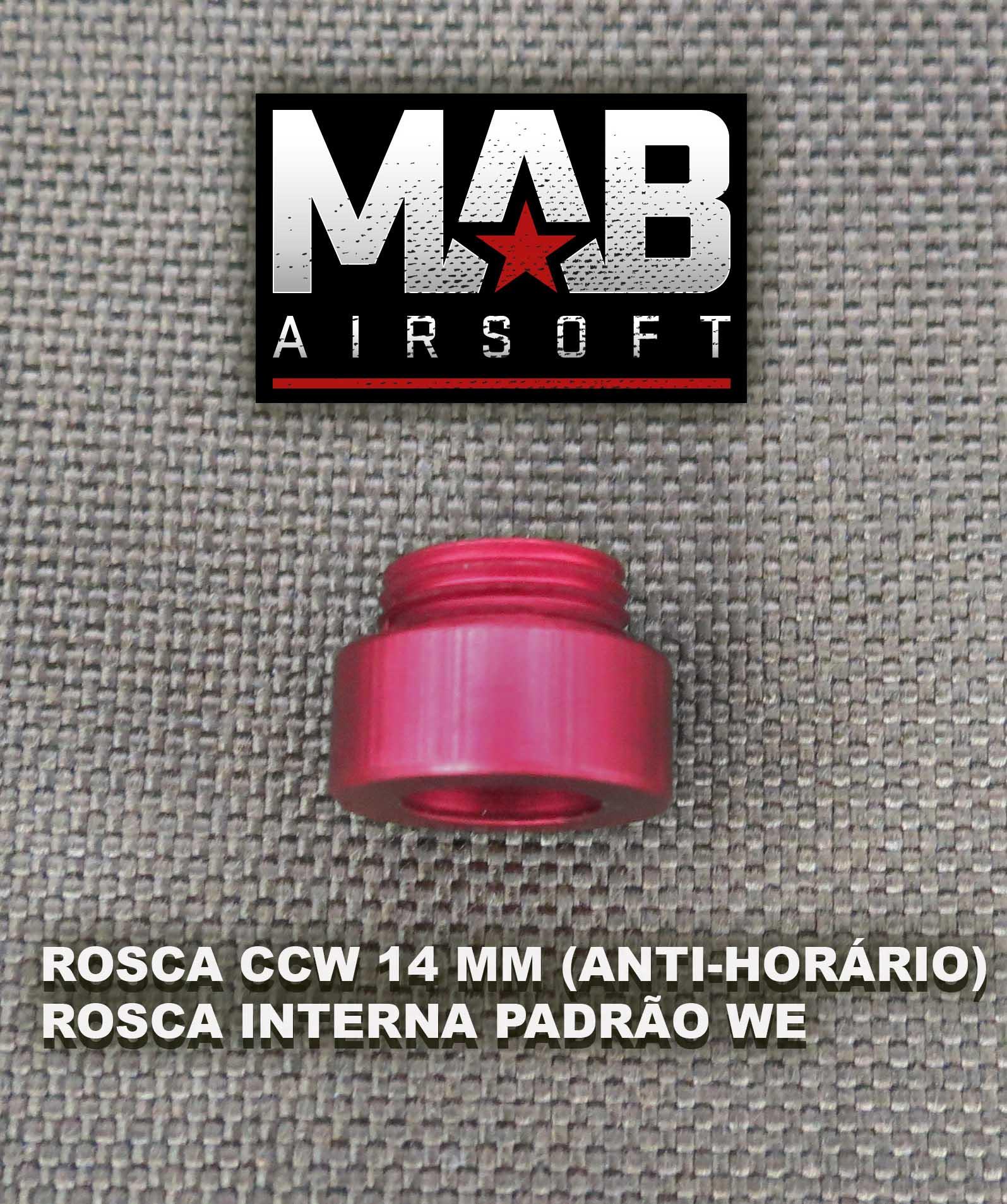 Ponta Vermelha e Adaptador de Rosca para Pistola GBB - PEQ  - MAB AIRSOFT