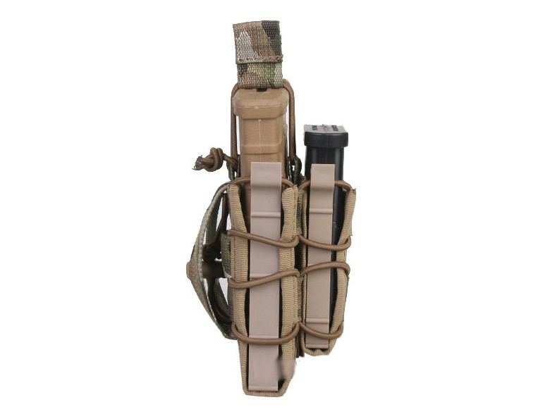 Porta Magazine Duplo Emerson MOLLE M4 (Tacos/Kydex) - Cor: Multicam *  - MAB AIRSOFT