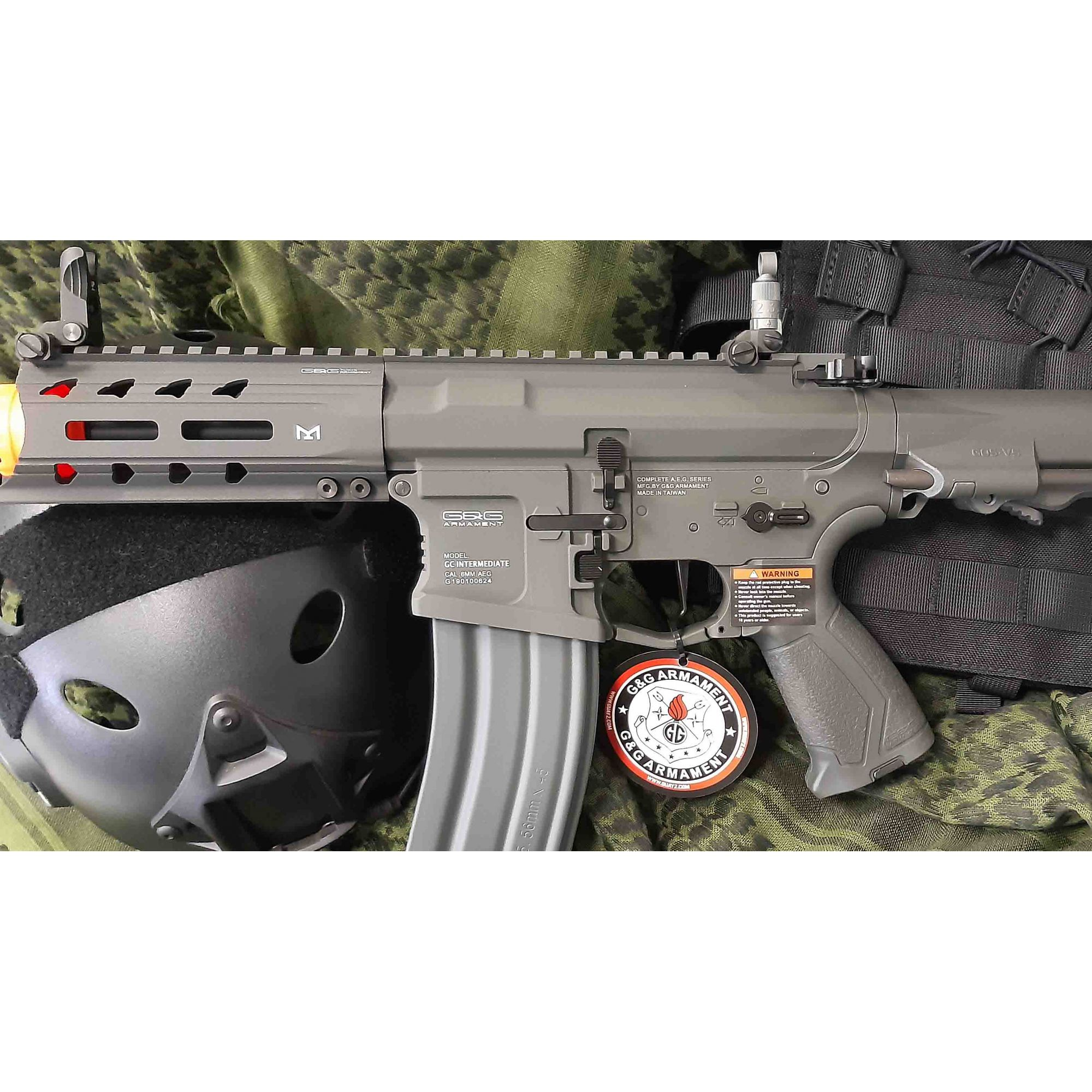Rifle Airsoft AEG M4 ARP 556 Grey Full Metal - G&G - Calibre 6 mm