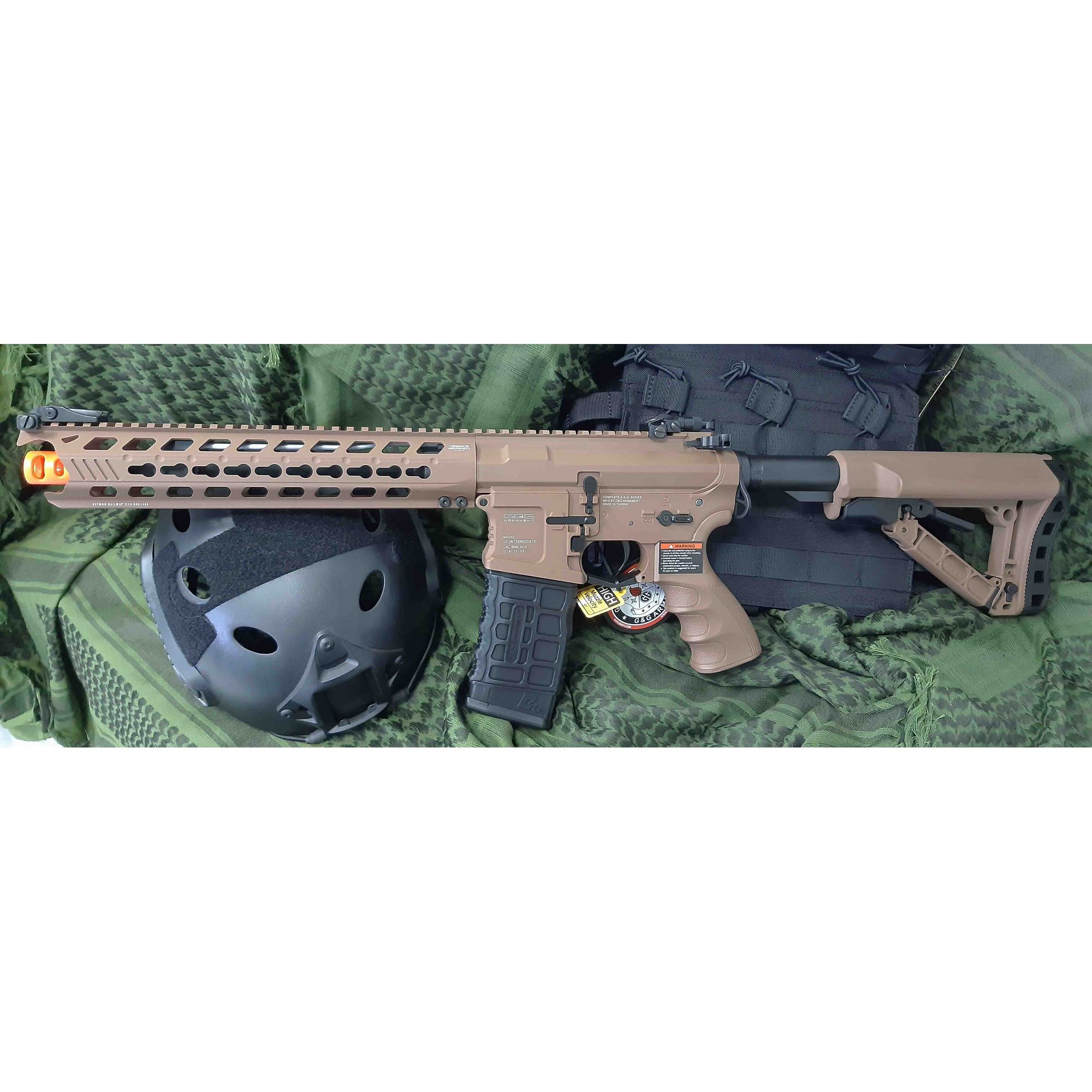Rifle Airsoft AEG M4 GC16 Predator Full Metal Coyote Brown  - G&G - Calibre 6 mm