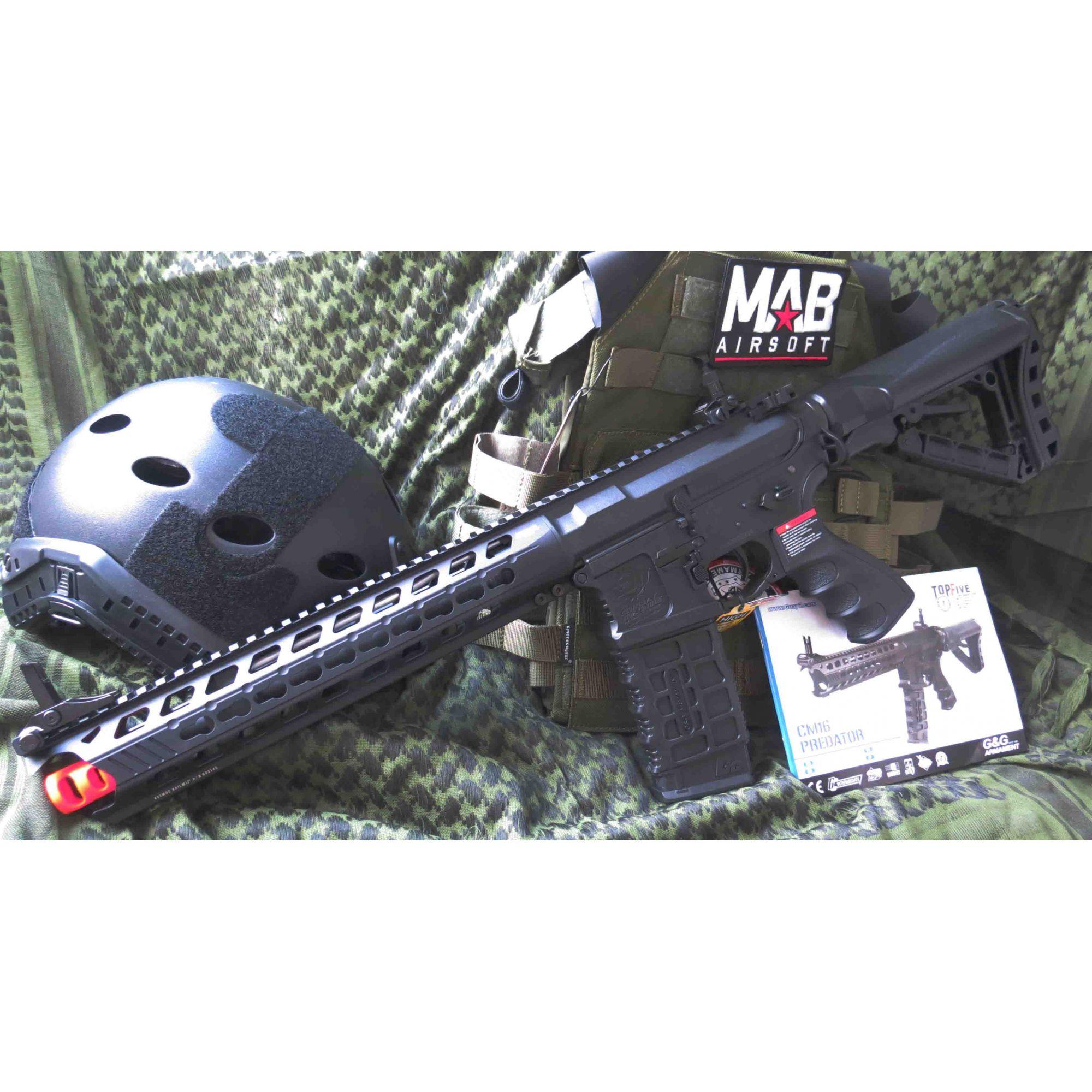 Rifle Airsoft AEG G&G M4 Predator CM16 Polimero