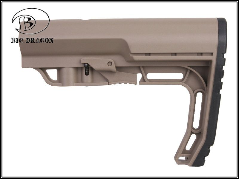 Stock MFT para M4  - Cor: Preta  - MAB AIRSOFT