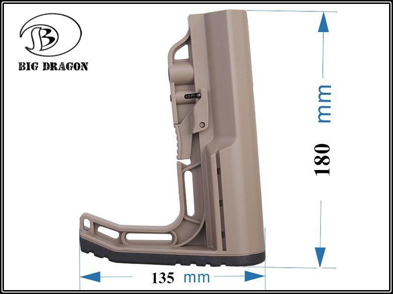 Stock MFT para M4  - Cor: Tan  - MAB AIRSOFT
