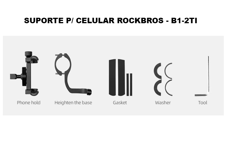 Suporte p/ Celular Bike Guidão - RockBros B1-2  - MAB AIRSOFT