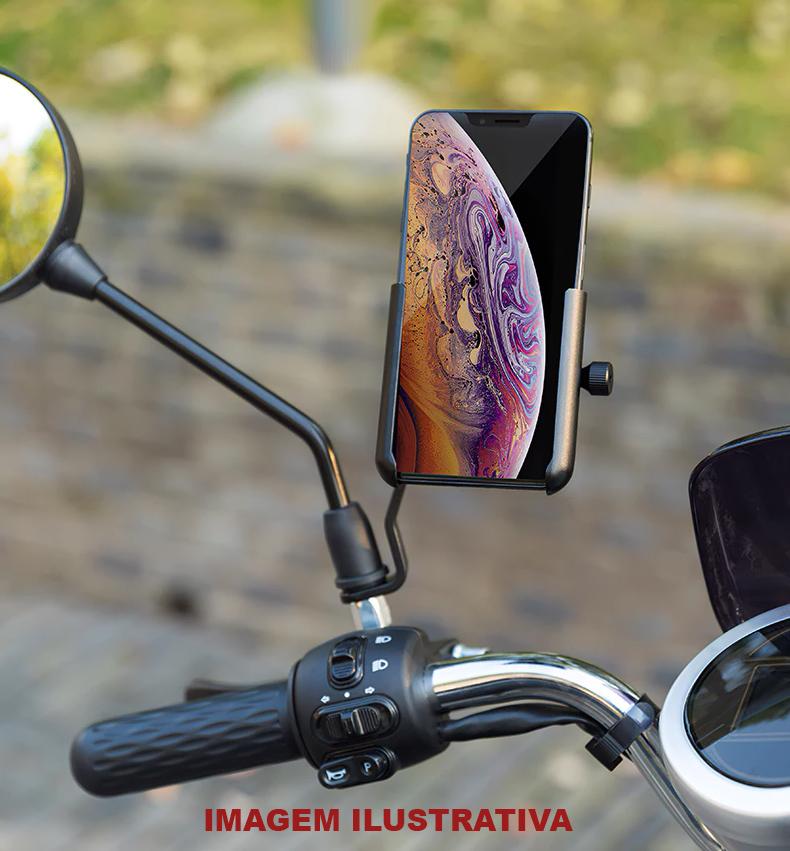 Suporte p/ Celular Bike Retrovisor - RockBros B1-1BK  - MAB AIRSOFT