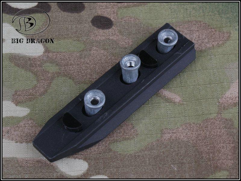 Trilho KeyMod em Alumínio (CURTO)  - Cor: Preto  - MAB AIRSOFT