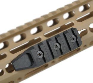 Trilho KeyMod em Alumínio (CURTO)  - Cor: TAN  - MAB AIRSOFT