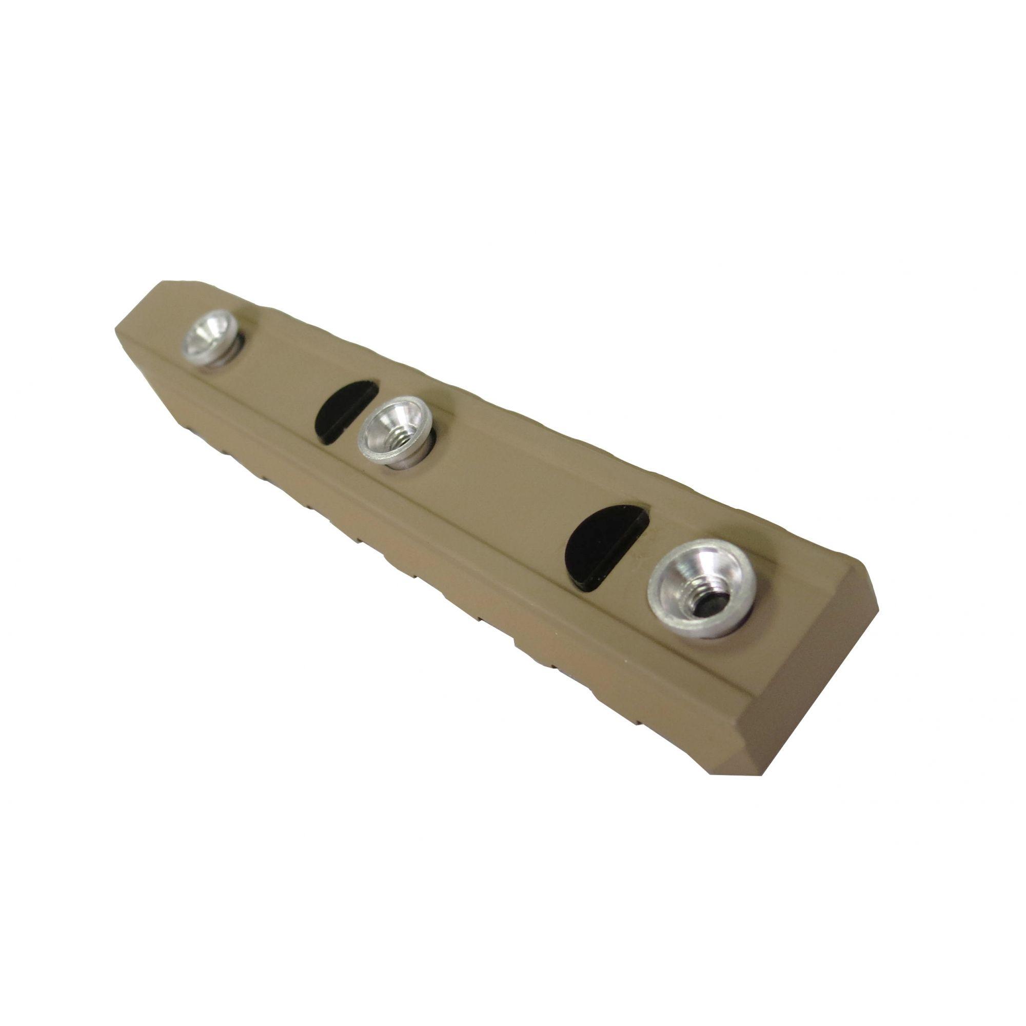 Trilho KeyMod em Alumínio (LONGO)  - Cor: TAN  - MAB AIRSOFT