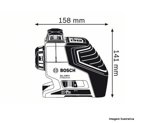 Nível A Laser Gll2-80p + Tripé Bs 150 Bosch  - Rei da Borracha