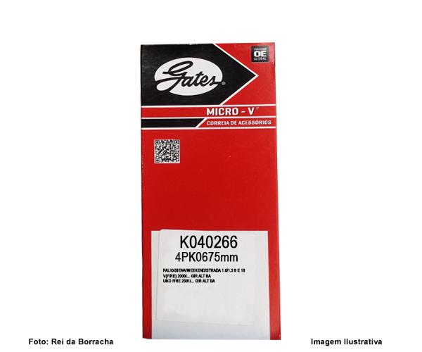 CORREIA AUTOMOTIVA GATES K040266  - Rei da Borracha