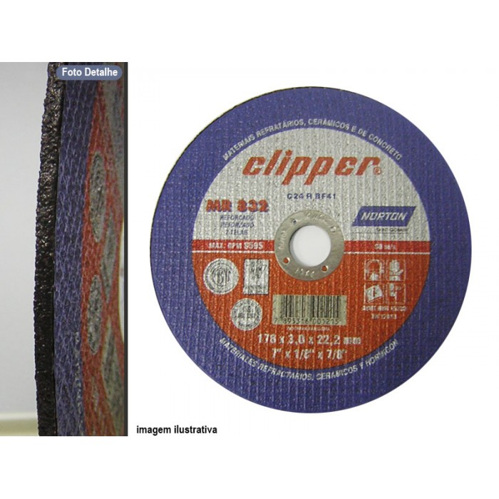 DISCO DE CORTE CLIPPER MR832  - Rei da Borracha