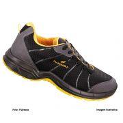 Tênis De Segurança Htd Fujiwara Preto/Amarelo Com Cadarço