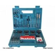 Kit Acessórios Makita B-54879 com 100 Peças Brocas e Bits com Maleta