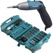 Parafusadeira A Bateria 4.8v Com Kit 80 Peças 6723dw Makita