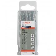 """Broca Hss-G Para Aço Rápido 6mm 1/8"""" Bosch (Unidade)"""