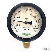 """Manovacuômetro Com Glicerina Rosca 4"""" Escala -1Kgf/cm² á 4 Kgf/cm²"""