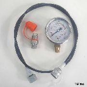 Manômetro Com Glicerina 600bar 8000 Psi 1/4 Npt Conex Micro