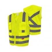 Colete De Alta Visibilidade Amarelo Fluorescente 4 Bolsos Steelflex