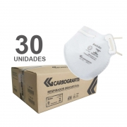 Kit Máscara Respiratória Descartável Classe PFF2 S (N95) Branca Caixa C/30 unidades