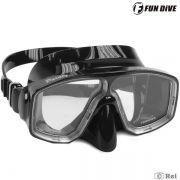 Máscara de Mergulho Siliconada Paraty Fun Dive duas lentes