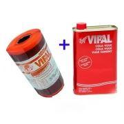Vulcanite Para Remendo Á Quente 1kg Vipal + Cola Vulk