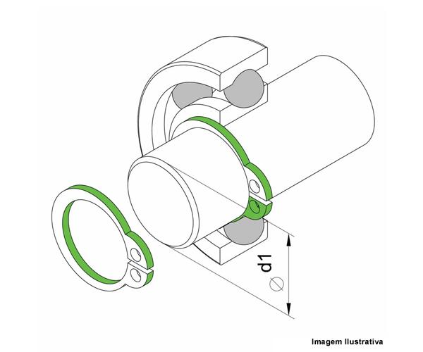 Alicate P/ Anéis Externo Curvo  - Rei da Borracha