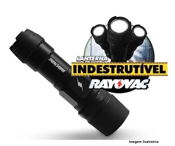 Lanterna Indestrutível Rayovac diy3AAA-BC  - Rei da Borracha