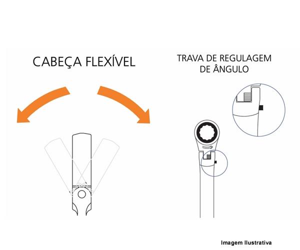 CHAVE COMBINADA C/ CATRACA FLEXDRIVE  - Rei da Borracha