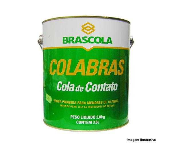 """Cola de Contato Colabras Brascola 2,8kg + Pincel 2""""  - Rei da Borracha"""