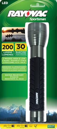 LANTERNA METAL LED SPORTSMAN  - Rei da Borracha