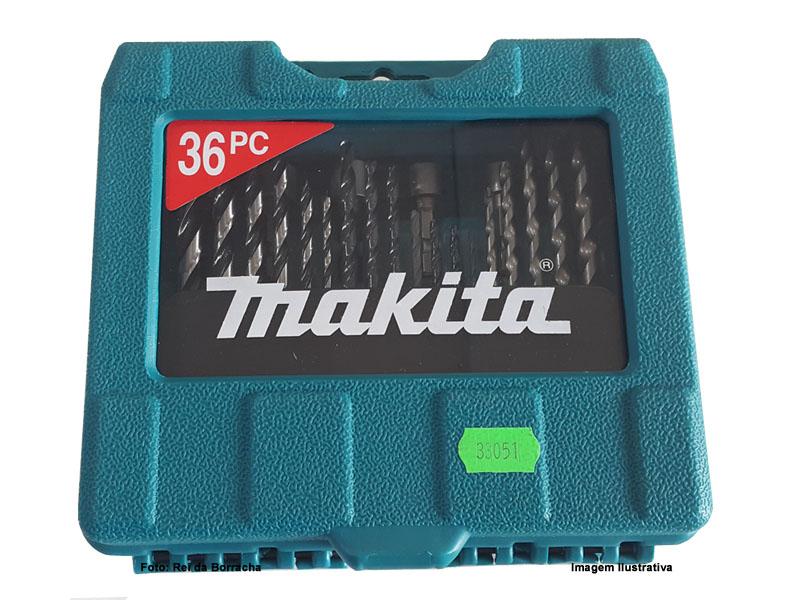 Kit De Brocas/Bits/Soquete Makita Com 36 Pcs  - Rei da Borracha