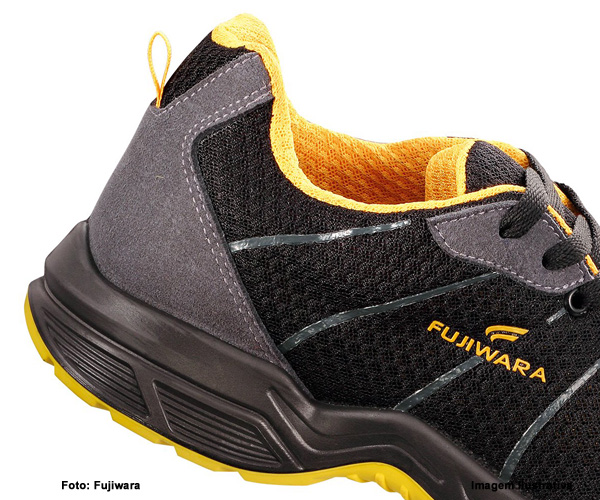 Tênis De Segurança Htd Fujiwara Preto/Amarelo Com Cadarço  - Rei da Borracha