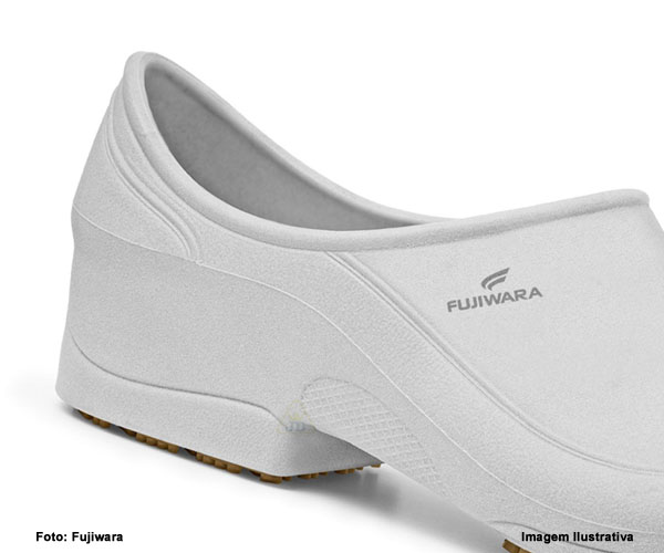 Sapato de Segurança Fujiwara Moov Branco TPR-EXP  - Rei da Borracha