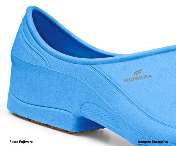 Sapato de Segurança Moov Fujiwara Azul - Profissionais da Saúde  - Rei da Borracha