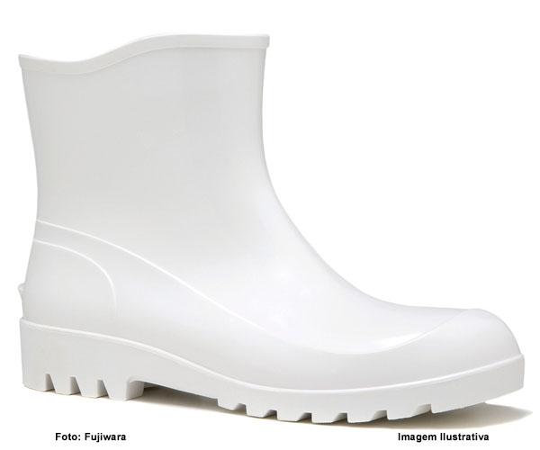 e3707acc0c6 Bota De Pvc Fujiwara Cano Extra Curto Branca - Rei da Borracha ...