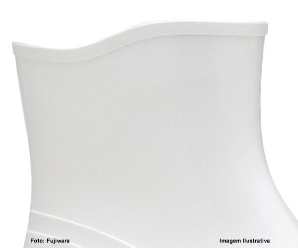 Bota De Pvc Fujiwara Cano Extra Curto Branca  - Rei da Borracha
